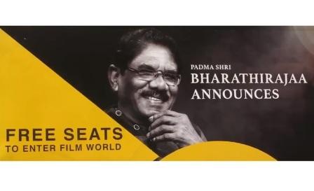 Padma Shri Bharathirajaa Announces Free Seats To Enter Film Wor
