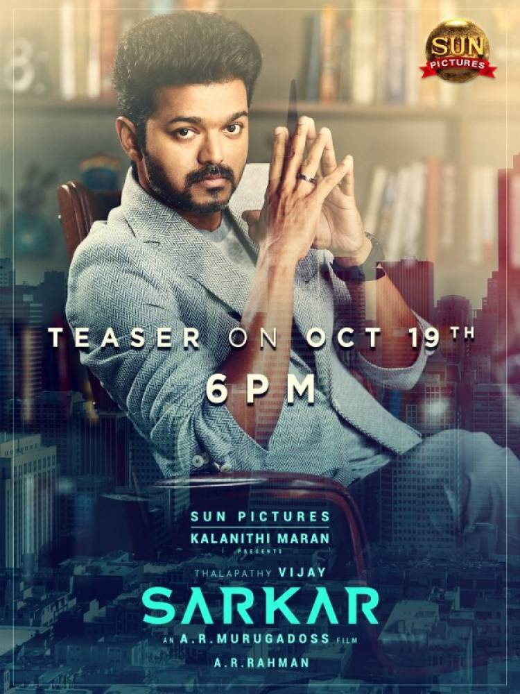 Sarkar Teaser on 19th October