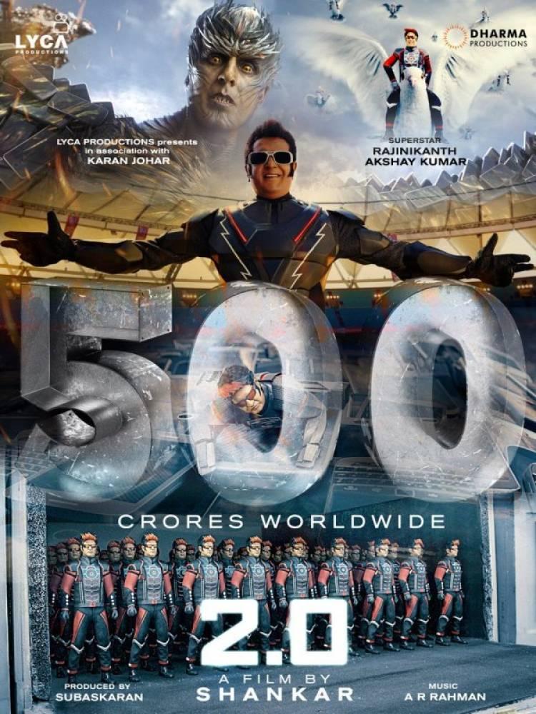 "Rajinikanth's ""2.0"" Enters 500 Crore Club!"