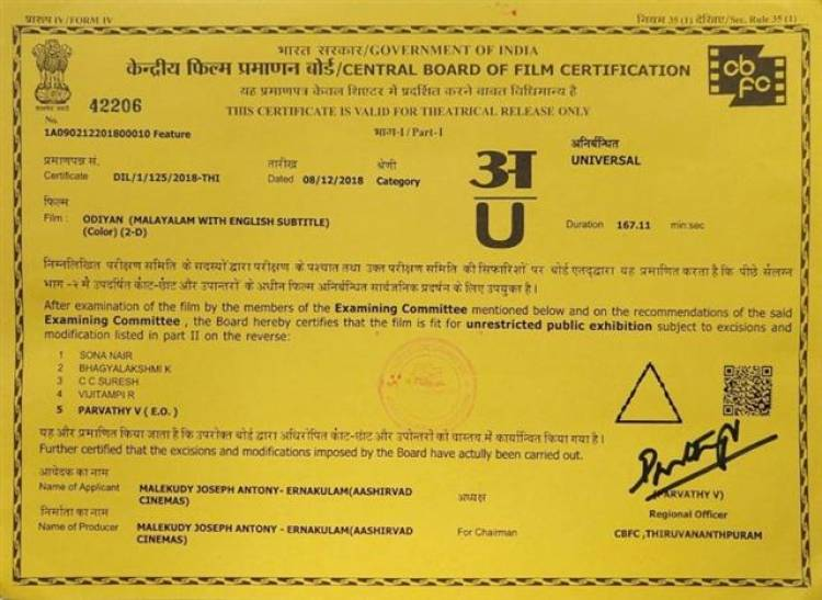 ODIYAN Censored with Clean U Certificate
