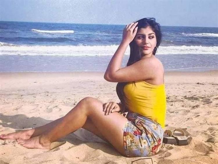 Yashika Aannand Beach Photoshoot Stills