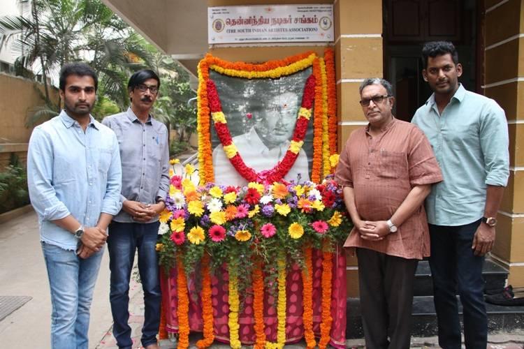 புரட்சி தலைவர் எம். ஜி. ஆர் 102-வது பிறந்தநாள், நடிகர் சங்கம் மரியாதை