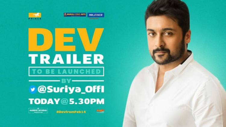 "Actor Surya to Launch ""DEV"" Trailer"