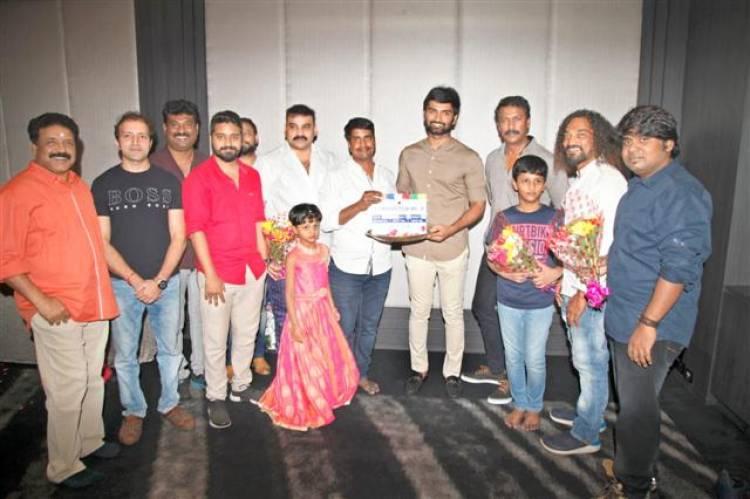 "Atharvaa Murali and Director Kannan new film ""Production No.3"" Pooja Stills"