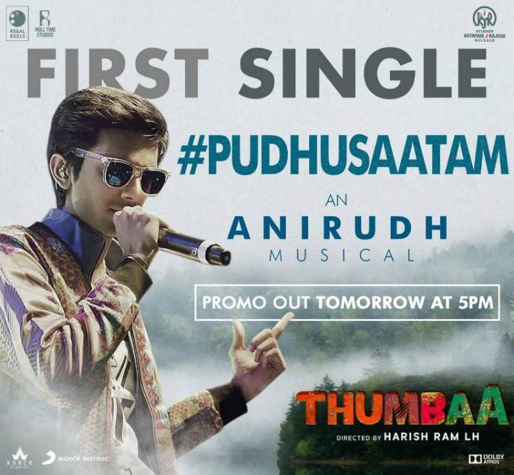 "Get ready for a glimpse of Anirudh's ""Pudhusaatam"" from Thumbaa!"