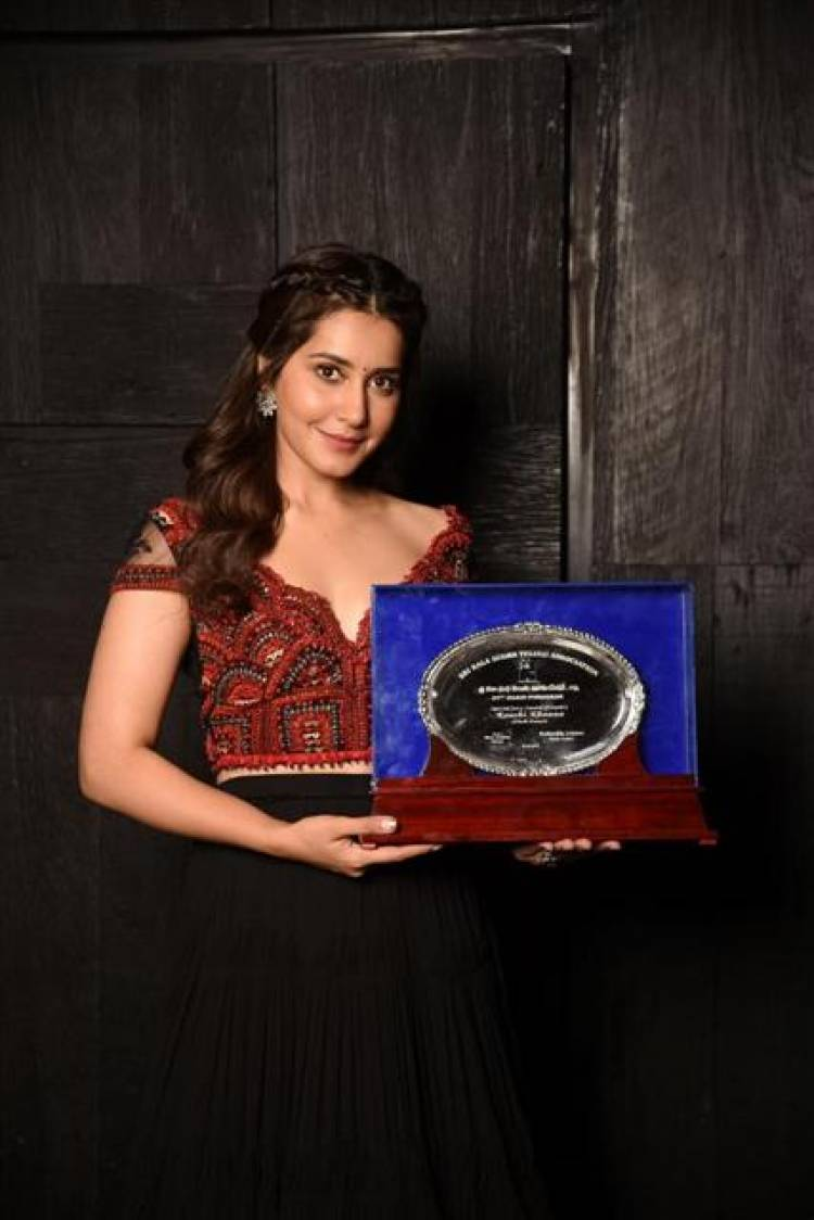 Actress Raashi Khanna received the Special Jury Award