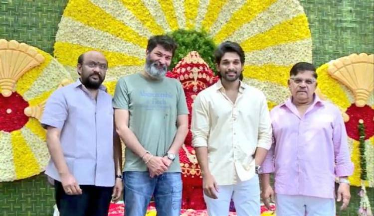 """Stylish Star"" Allu Arjun's 19th Movie Pooja Stills"