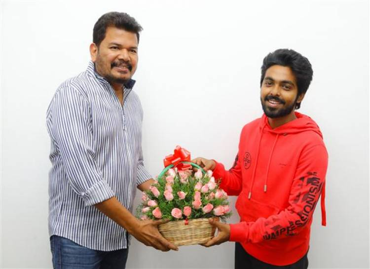 "Director Shankar Unveiled first look poster of ""Sivappu Manjal Pachai"""