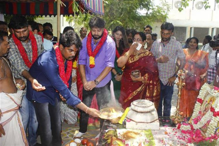 """Ennai Sudum Pani"" Movie Pooja Stills"