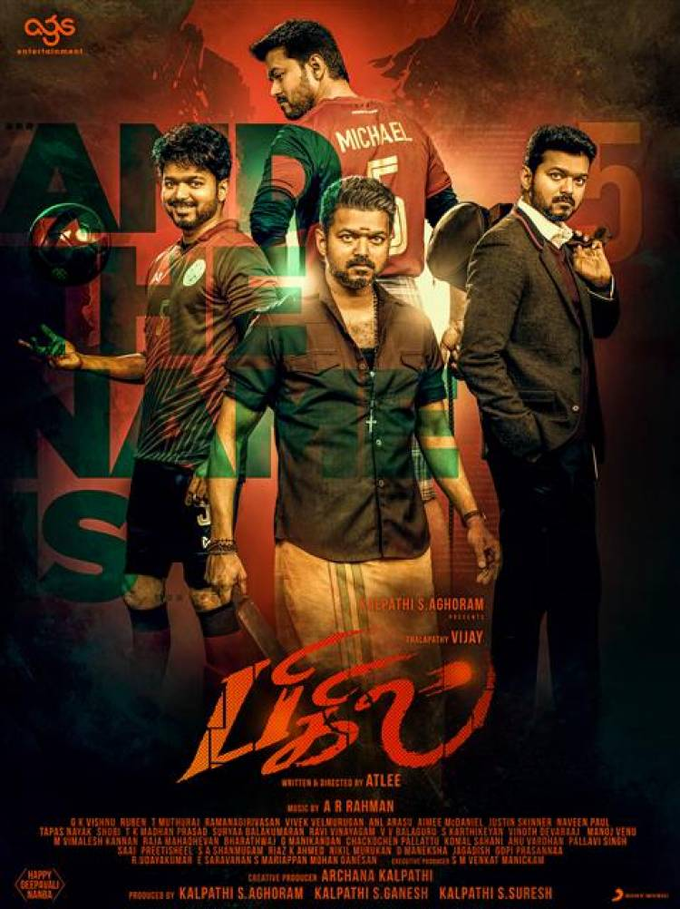 "Thalapathy Vijay's ""BIGIL"" Second Look Posters"