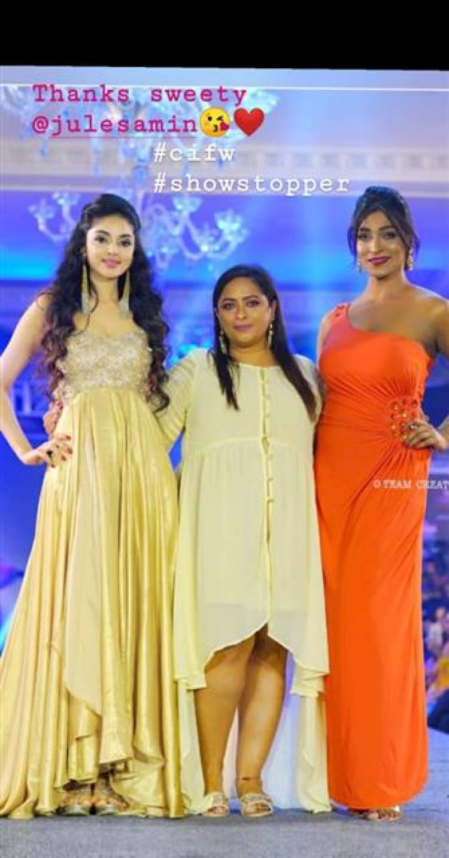 Actress Sanam Shetty @ Chennai International Fashion Week Stills