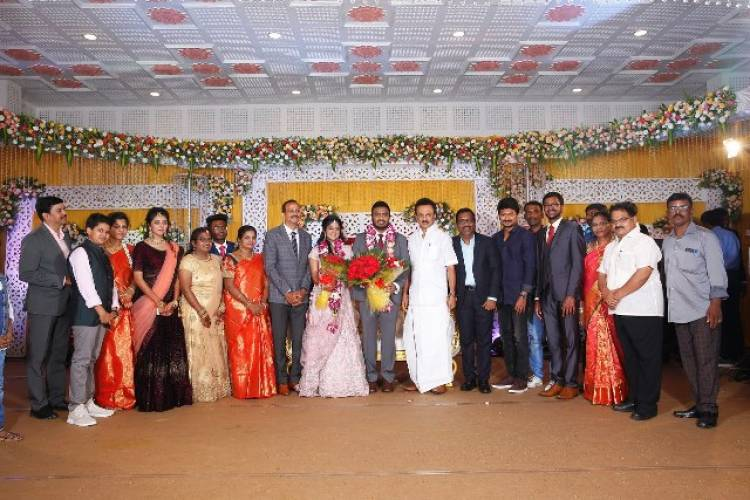 Actor Charlie elder Son Adhithiya Charlie weds Amritha reception Photos