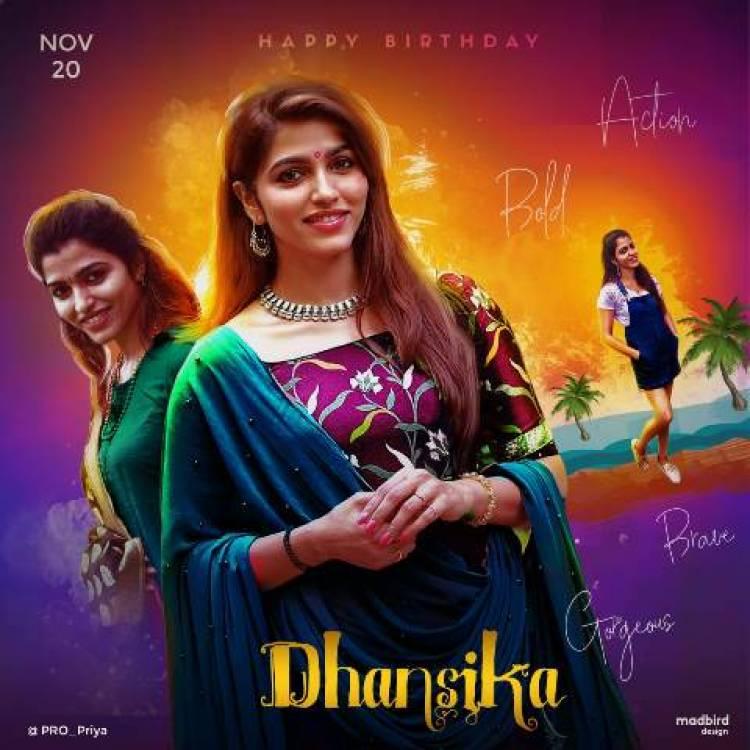 Happy Birthday to Beautiful Actress Sai Dhanshika