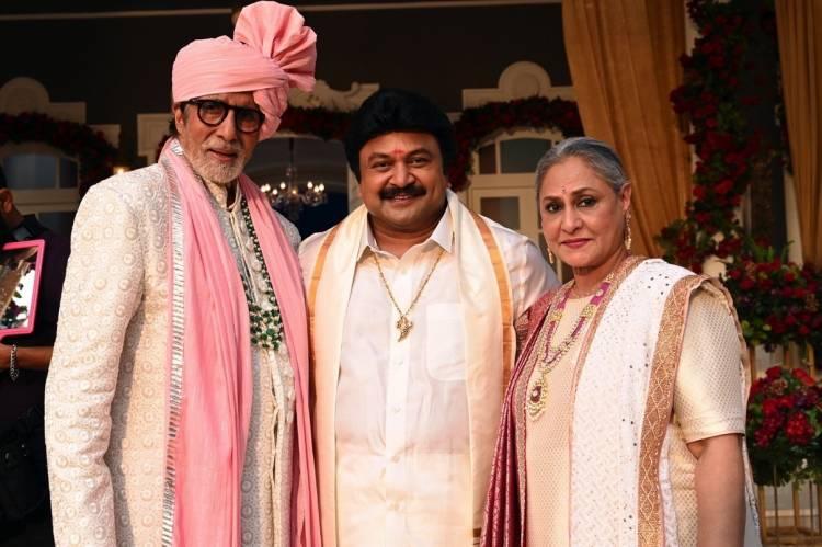 Amitabh and Jaya Bachchan spotted with Tamil Superstar Prabhu Ganesan at Kalyan Jewellers ad shoot in Mumbai