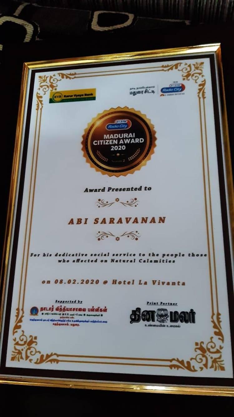 பிறந்தநாளில் 'மாயநதி' அபி சரவணனுக்கு கிடைத்த மூன்று விருதுகள்!