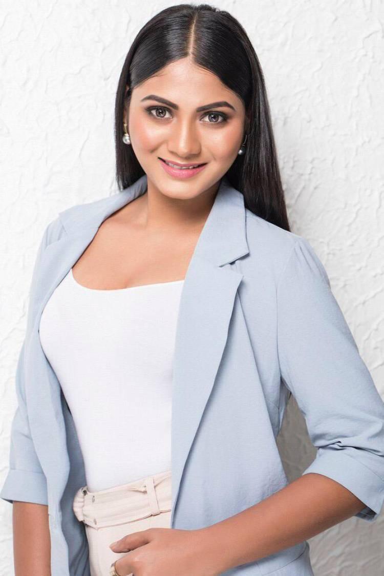 Gorgeous in professional attire  Actress ShrutiReddy