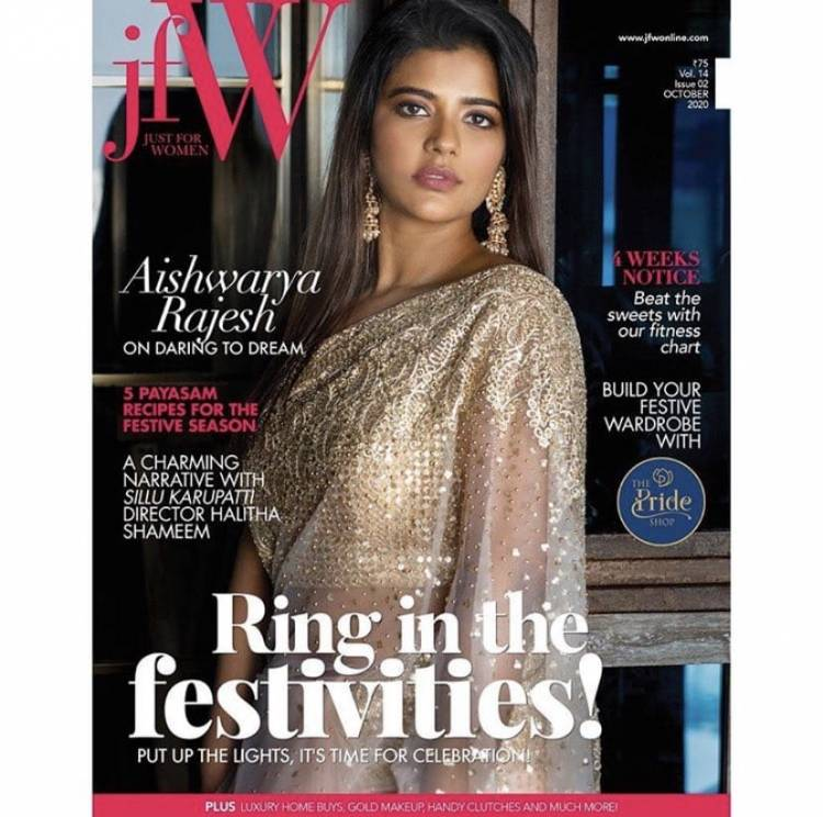 The brilliant and beautiful #AishwaryaRajesh from the cover of @jfwmagofficial's October edition