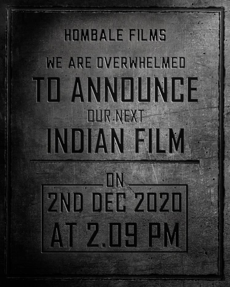 Hombale films, a film production house established by a first generation entrepreneur Mr. Vijay Kiragandur