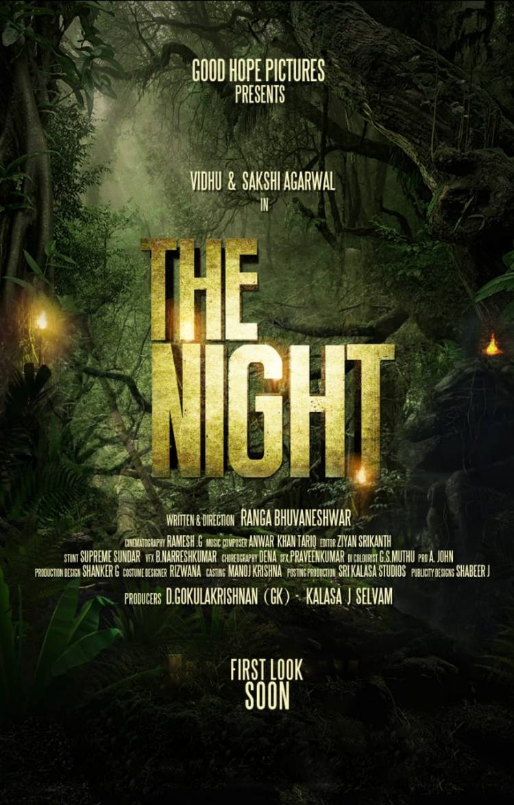 Happy to reveal the film title #TheNight for #GoodHopePictures Starring @itsmevidhu and @ssakshiagarwal