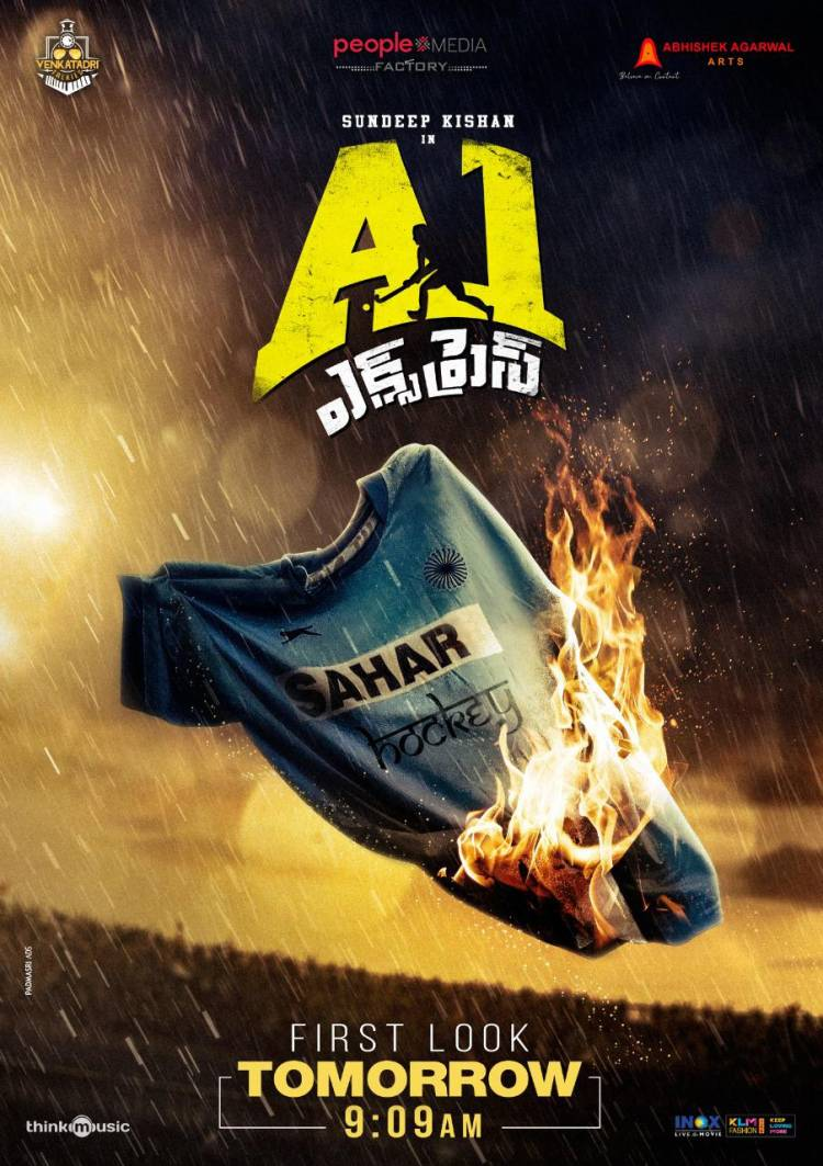 The official first look of TFI's 1st Hockey film @SundeepKishan 's #A1Express