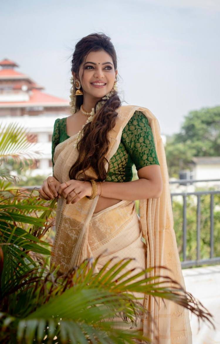 Spreading delight and positivity! Here's actress Athulya Ravi wishing you all a very happy,  healthy and prosperous #Pongal