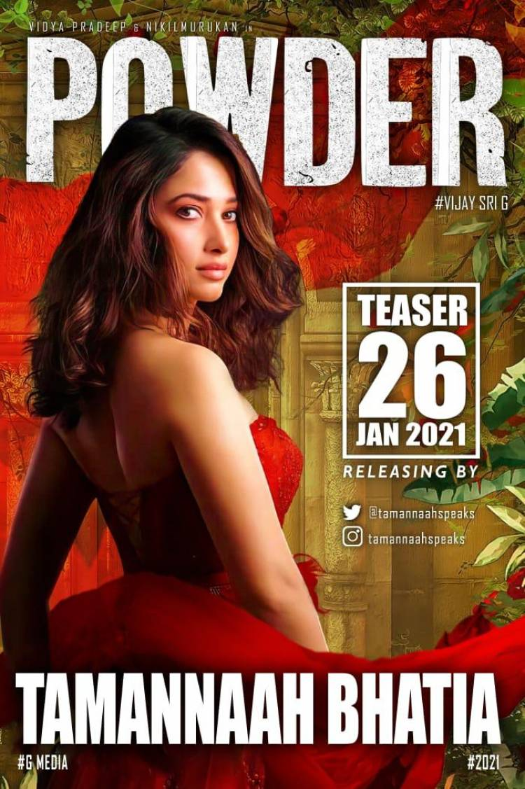 The Queen @tamannaahspeaks releases  #Powder teaser on 26 th jan #பவுடர் #PowderTamilfilm