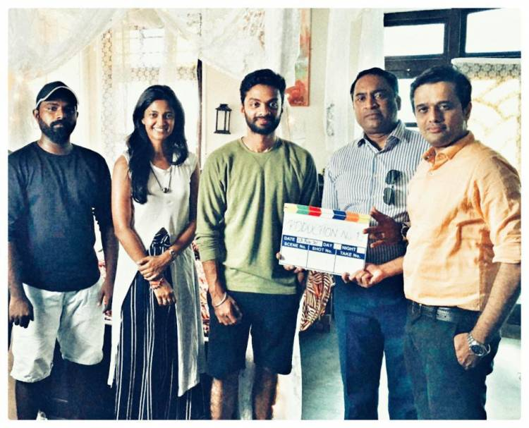 Shoot begins for @supertalkies @sameerbr #production12 starring @ikeerthipandian & @vinoth_kishan