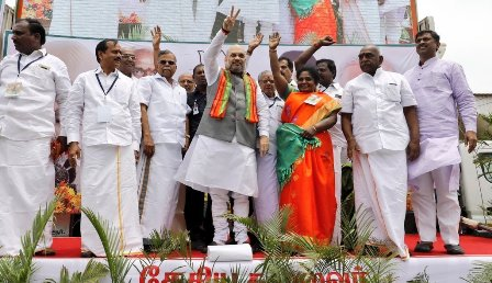 Amit Shah arrives in Tamil Nadu, to pep up BJP workers