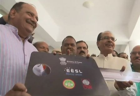 CM launches e-car in MP