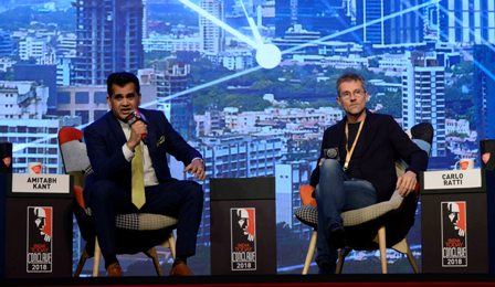 Carlo Ratti and Amitabh Kant at India Today Conclave