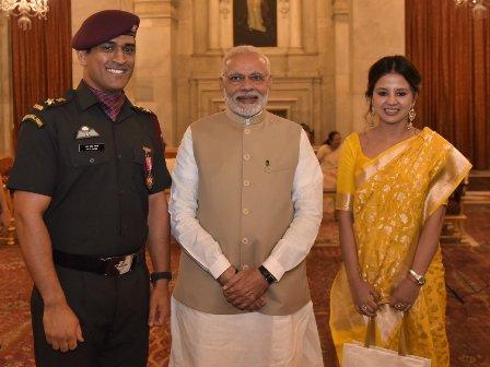 M.S. Dhoni among 43 presented Padma awards