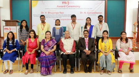 MVJ College of Engineering Students Bag 1st Rank in VTU Results
