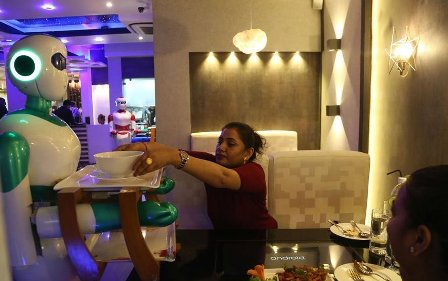 Nepal restaurant uses robots as waiters
