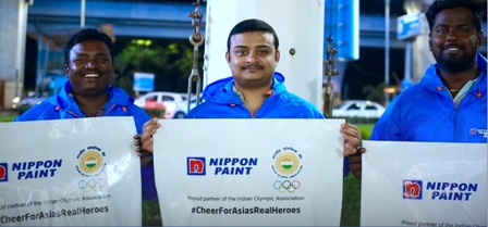Nippon Paint?s Digital Contest winners attend Asian Games 2018