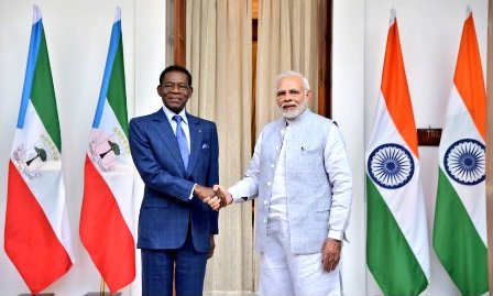 PM Narendra Modi Met the President of Equatorial Guinea