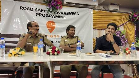 Poonamallee RTO and Swiggy Come Together to Launch a Road Safet