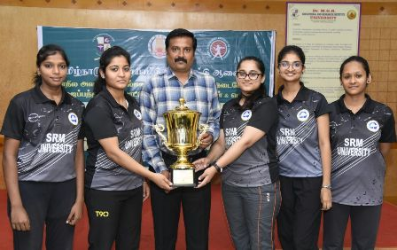 SRM Table Tennis Men & Women Team Won GOLD Medal