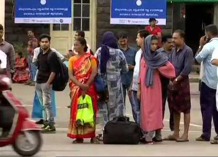 Transport shutdown affects normal life in Kerala