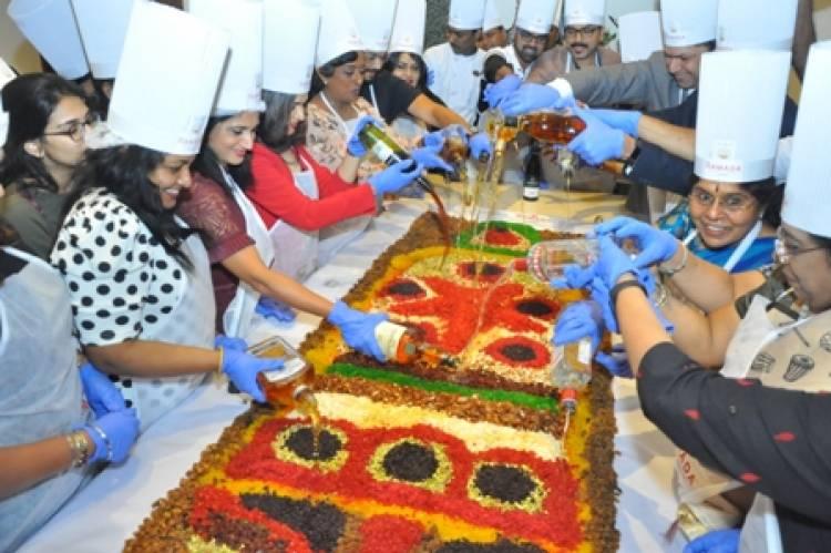 Ramada Plaza Guindy Celebrates, The Christmas Cake Mixing Ceremony