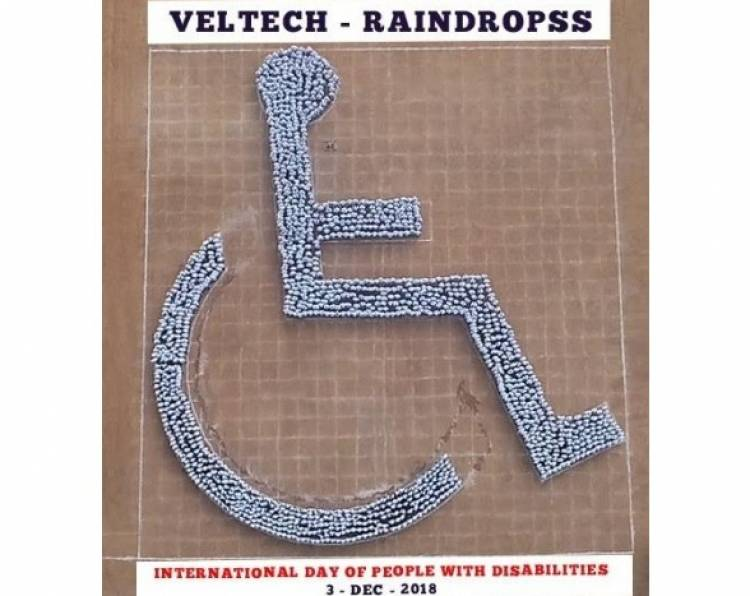 Raindropss and Vel Tech University sets a World Record to support the differently abled