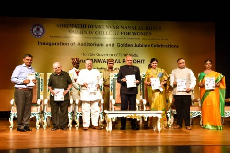 Golden Jubilee Celebrations of SDNB College - Governor Banwarilal Purohit participates