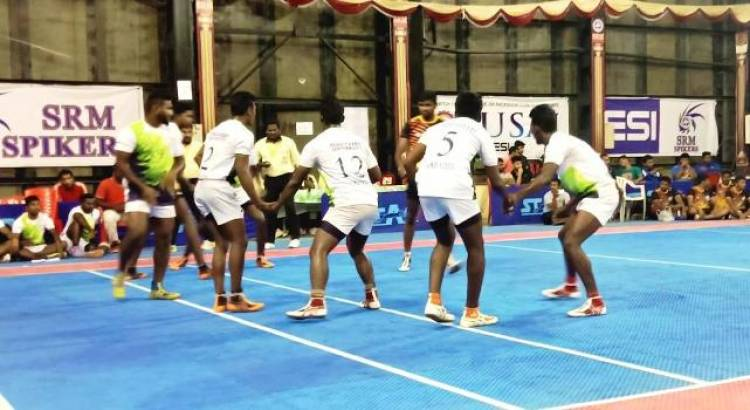 South Zone Inter University Kabaddi Men Tournament - Quarter Finals Results