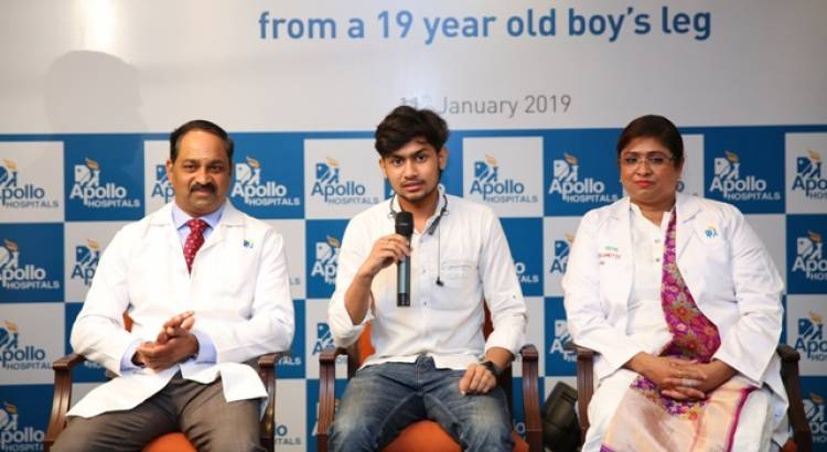 Apollo Hospital Successfully Performs a rare complicated surgery to remove a recurrent Bone Eating tumour