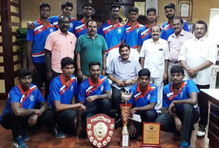 SRM IST Volleyball Men Team won All India Inter University Championship @ Kanpur