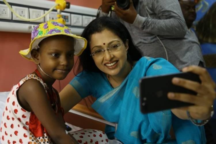 Gautami tadimalla visited VS cancer hospital in Chennai