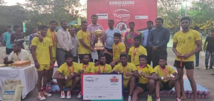 SRM IST Kabaddi Men Team won Dr Mahalingam Trophy @ Coimbatore