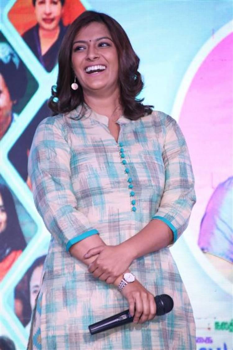 Actress Varalaxmi Sarathkumar at DG Vaishnav College