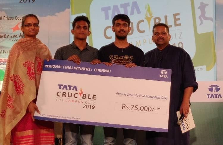 IIT Madras win Chennai regional finals of Tata Crucible Campus Quiz 2019
