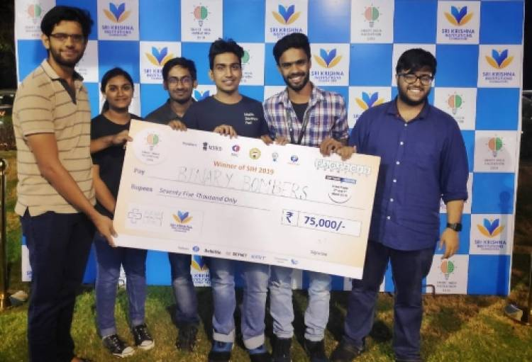 Students of SRMIST won Smart India Hackathon 2019