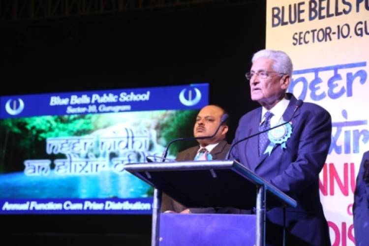 Blue Bells Public School students encourage water conservation with Neernidhi